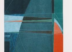 Kompozicija tla I, kombinovana tehnika, 2001, 100x55 cm triptih