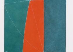 Kompozicija tla II, kombinovana tehnika, 2001, 100x55 cm triptih