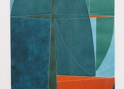 Kompozicija tla III, kombinovana tehnika, 2001, 100x55 cm triptih