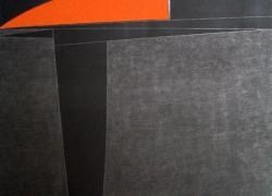 geometrizacija 4, kombinovana tehnika na platnu 2010, 154x100 cm