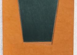 geometrizacija ravni 1, kombinovana tehnika na platnu, 2007, 80x60
