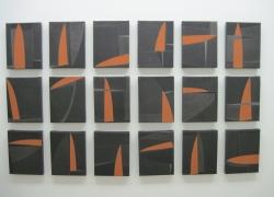male kompozicije, kombinovana tehnika na platnu, 2010, 27x21 cm poliptih, 20 delova