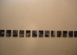 rhythmics, 2005, aluminium, acryl, 33x24 cm, polyptych 15 pieces