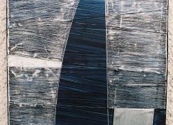 rhythmics 4, 2005, aluminium, acryl, 33x24 cm, polyptych 15 pieces